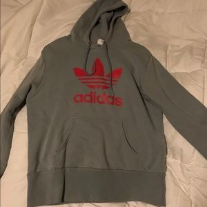 Adidas pink and gray sweatshirt